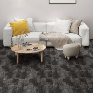 Ladrilhos de carpete para pisos 20 pcs 5 m² antracite - PORTES GRÁTIS
