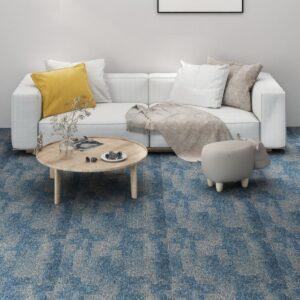 Ladrilhos de carpete para pisos 20 pcs 5 m² azul-claro - PORTES GRÁTIS