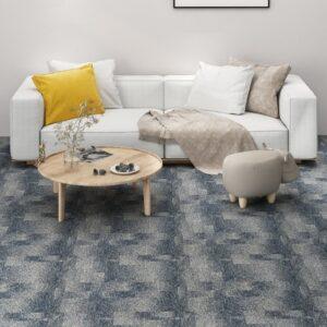 Ladrilhos de carpete para pisos 20 pcs 5 m² azul-escuro - PORTES GRÁTIS