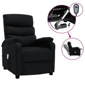 Poltrona de massagens elétrica reclinável tecido preto - PORTES GRÁTIS