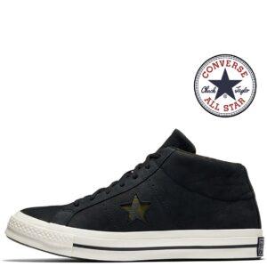 Converse® Sapatilhas One Star Mid Preto-Egret-Herbal - Tamanho 42