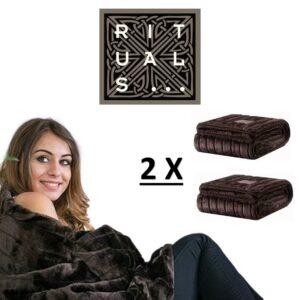 RITUALS® EXCLUSIVO EDIÇÃO LIMITADA - 2 Mantas de lã Macias de Alta Qualidade - 130 x 170 cm