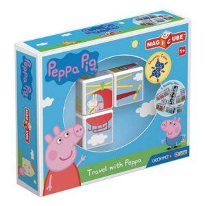 Jogo de Construção Geomag Magicube Peppa Pig (3 pcs)