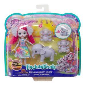 Boneca com Animal Mattel Enchantimals Sunny Savanna Esmeralda 15 cm