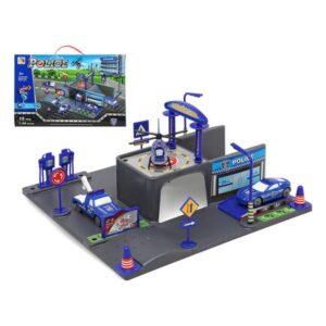 Garagem Parking com Veículos Police Azul 110207 (15 Pcs)