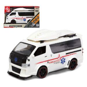 Ambulância com Luz e Som Auto Simulation (29 x 18 cm)