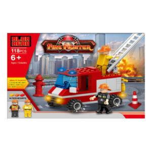 Jogo de Construção Fire Fighter (118 pcs)