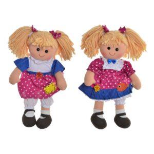 2 Bonecas de Trapo (24 x 10 x 35 cm)