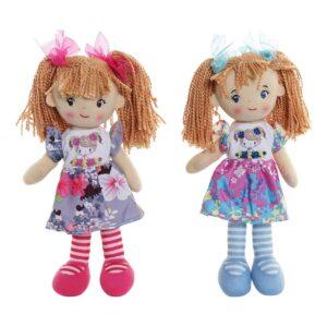 2 Bonecas de Trapo (20 x 12 x 30 cm)