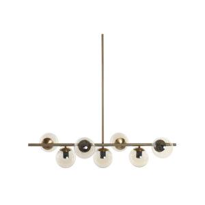 Candeeiro de teto DKD Home Decor Metal Cristal Dourado (96 x 30 x 130 cm)