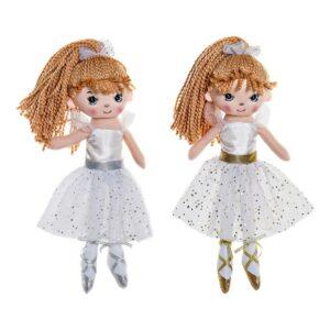 2 Bonecas de Trapo Bailarina Ballet (13 x 10 x 35 cm)
