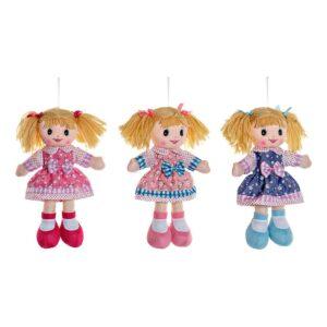 3 Bonecas de Trapo (15 x 5 x 30 cm)