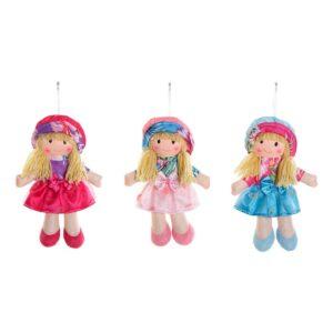 3 Bonecas de Trapo (15 x 5 x 20 cm)