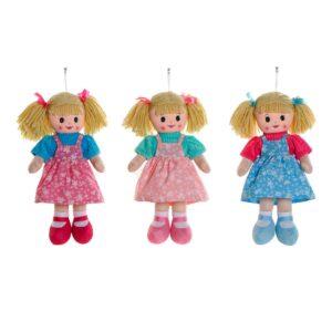 3 Bonecas de Trapo (23 x 9 x 40 cm)