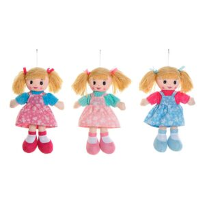 3 Bonecas de Trapo (18 x 7 x 30 cm)