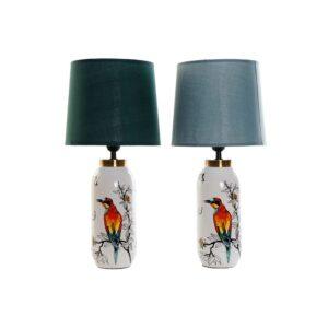 Lâmpada de mesa DKD Home Decor Algodão Grés 220 V Verde Menta 40 W (2 pcs) (25 x 25 x 53 cm)
