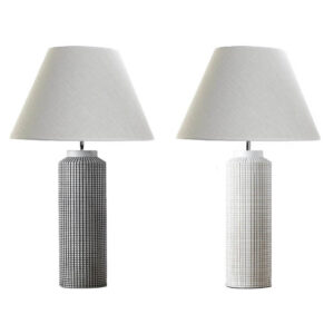 Lâmpada de mesa DKD Home Decor Branco Preto Bege Poliéster Resina (2 pcs) (45 x 45 x 73 cm)
