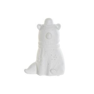 Lâmpada de mesa DKD Home Decor Branco Porcelana 25W 220 V LED Urso (17 x 12 x 23 cm)