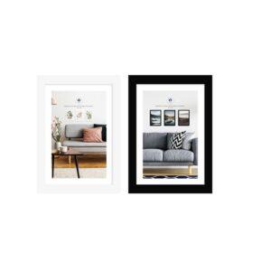 Moldura de Fotos DKD Home Decor Cristal Madeira MDF (2 pcs) (10 x 2 x 15 cm)