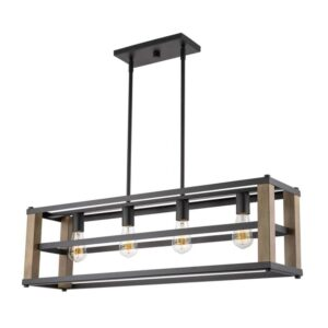 Candeeiro de teto DKD Home Decor Castanho Preto Metal Pinheiro 220 V (87 x 20 x 29 cm)