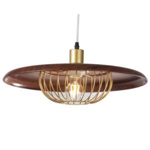 Candeeiro de teto DKD Home Decor Castanho Metal Dourado (45 x 45 x 18 cm)