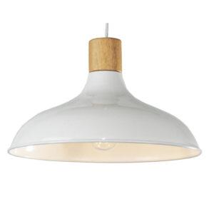 Candeeiro de teto DKD Home Decor Branco Castanho Metal Pinheiro (36 x 36 x 21 cm)
