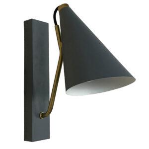 Lâmpada de mesa DKD Home Decor Azul Metal Dourado (12 x 25 x 29 cm)