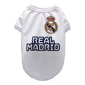T-shirt para Cães Real Madrid C.F. PT-95-PG Branco XXL