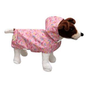 Gabardina para Cães Studio Pets Cor de Rosa S