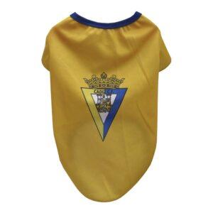 T-shirt para Cães Cádiz Club de Fútbol Amarelo S