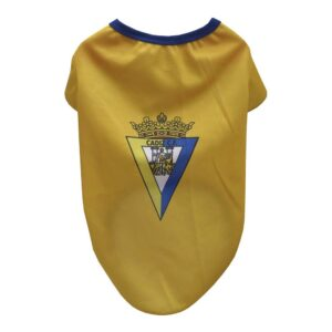 T-shirt para Cães Cádiz Club de Fútbol Amarelo L