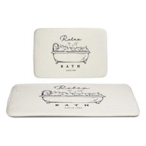Tapete de banho Branco (40 x 60 cm)