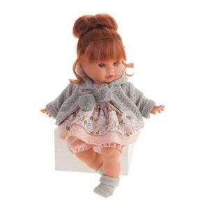 Boneca bebé Dato Llorona Antonio Juan Casaco Cinzento (30 cm)