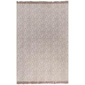 Tapete Kilim algodão 160x230 cm com padrão cinzento-acastanhado - PORTES GRÁTIS