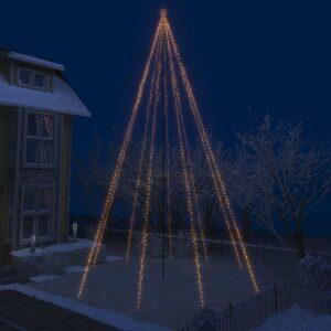 Iluminação cascata p/ árvore Natal int/ext 1300 luzes LED 8 m - PORTES GRÁTIS