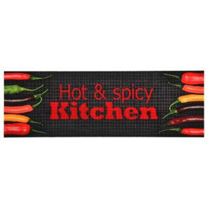 Tapete de cozinha lavável com design Hot & Spicy 60x300 cm - PORTES GRÁTIS