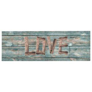Tapete de cozinha lavável com design Love 60x300 cm - PORTES GRÁTIS
