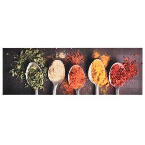 Tapete de cozinha lavável com design de colheres 60x300 cm - PORTES GRÁTIS