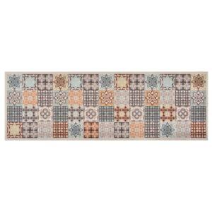 Tapete de cozinha lavável com design mosaico colorido 45x150 cm - PORTES GRÁTIS