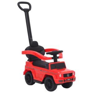 Carro infantil de empurrar Mercedes-Benz G63 vermelho - PORTES GRÁTIS