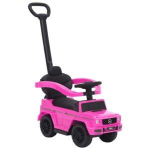 Carro infantil de empurrar Mercedes-Benz G63 rosa - PORTES GRÁTIS