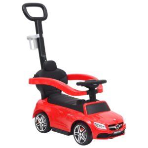 Carro infantil de empurrar Mercedes-Benz C63 vermelho - PORTES GRÁTIS