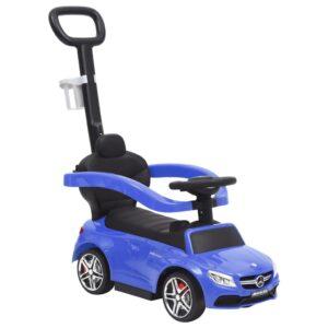 Carro infantil de empurrar Mercedes-Benz C63 azul - PORTES GRÁTIS