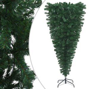 Árvore de Natal artificial invertida com suporte 120 cm verde - PORTES GRÁTIS