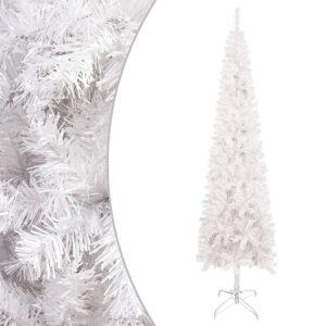 Árvore de Natal fina 210 cm branco  - PORTES GRÁTIS