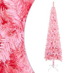 Árvore de Natal fina 210 cm rosa  - PORTES GRÁTIS