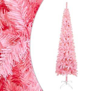 Árvore de Natal fina 240 cm rosa  - PORTES GRÁTIS