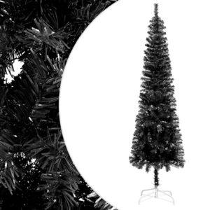 Árvore de Natal fina 210 cm preto  - PORTES GRÁTIS