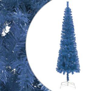 Árvore de Natal fina 210 cm azul  - PORTES GRÁTIS