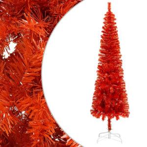 Árvore de Natal fina 240 cm vermelho   - PORTES GRÁTIS